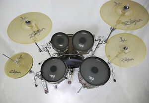 RTOM Black Hole Drum Mutes + Zildjian L80 cymbal set