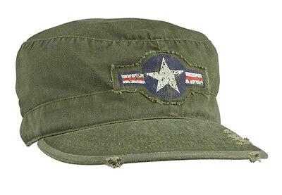 USAF Air Corps Kokarde Vintage Fatigue Cap US Army Airforce Pilots Marines Air Corp Fatigue Cap