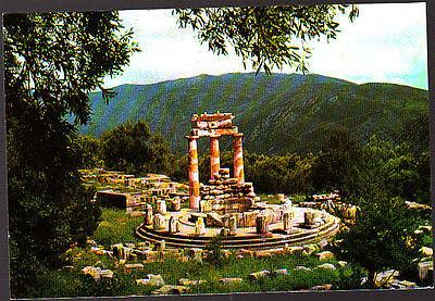 Vintage  Unused Postcard, Greece, Delphi, Tholos of Marmaria, 111