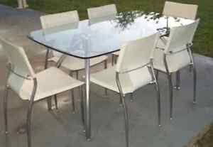 Glass dining table 6 chairs Townsville Townsville City Preview