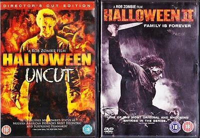 HALLOWEEN & HALLOWEEN II [2,Two] [Director's Cut] Rob Zombie Horror DVD *EXC*