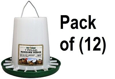 12 Harris Farms 1000297 7 Lb Capacity Hanging Plastic Poultry Chicken Feeders