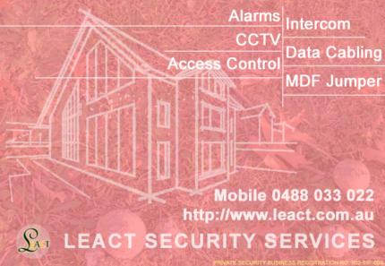 Alarm, CCTV, Data cabling, MDF jumpe, Intercom and Access control