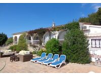 FARMHOUSE finca/ VILLA RENTAL ALTEA. ALICANTE ...PRIVATE; Pool,Badminton Crt.sleeps 12 people.