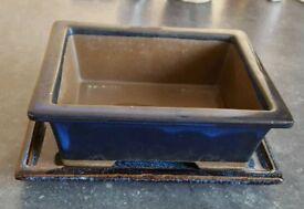 Bonsai pot and tray