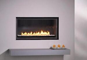 LINEAR CONTEMPORARY BURNER GAS FIREPLACE