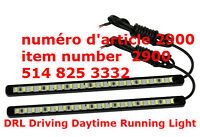 2 X Car DIY 15 LED DRL Driving Daytime Running Light Bar SMD5630