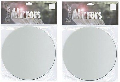 Lot of 2 ~ Glass Mirror Round 4 inch Craft and Home Decor