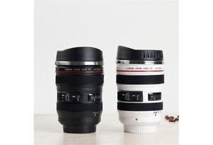 Tasse lentille de caméra en acier inoxydable isolé 400 ml