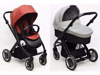Babystyle Oyster Stroller & Pram with Carrycot - Claret