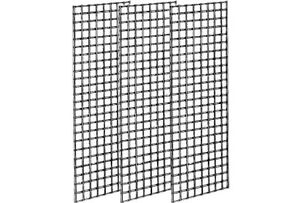 2' X 6' Black Gridwall Panel Set Of 3 Grid Wall Display