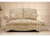 HSL Drop Arm Sofa with matching cushions. In Arizona Sand Fabric