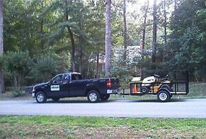 Man with Truck and Trailer