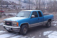 1991 GMC 3/4 ton 4X4 short box extended cab pickup truck
