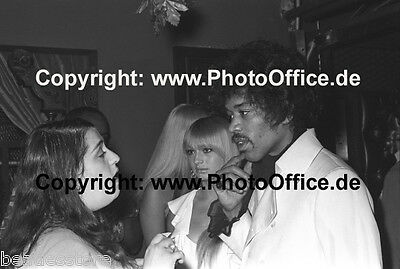 Jimi Hendrix & Cass Elliot Mamas and the Papas seltenes 30x45cm Foto Poster Tour