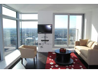 # Stunning to bed 2 bath coming abailable on the 22rd floor with amazing views in South Quay!!