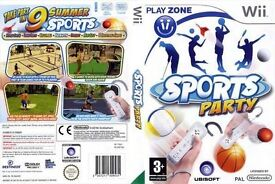 Nintendo Wii Sports Party 9 Different Top Sports Games in 0ne Boxed