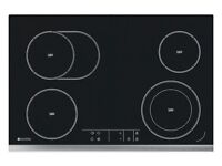 New in box Hoover Stainless Steel 4 zone ceramic hob Large 75cm Touch sensitive controls