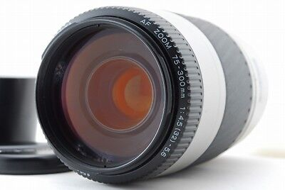 MINOLTA AF ZOOM 75-300 f/4.5-5.6 for Sony α mount w/Hood  [Very good] from japan