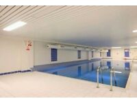 Luxurious 2 double bedroom & 2 bathroom apartment with swimming pool & gym available in Canary Wharf