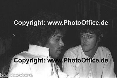 Jimi Hendrix & Donovan seltenes 30x45cm Foto Poster