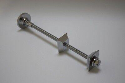 Chrome Wall Tie Bracket for Cast Iron Radiators