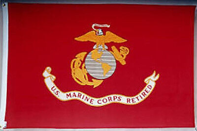 USMC United States Marine Corps RETIRED Flag 3x5 ft Outdoor Nylon Made in USA