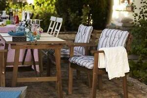 Near NEW Outdoor Table+4 chairs w armrests in great condition Chermside Brisbane North East Preview