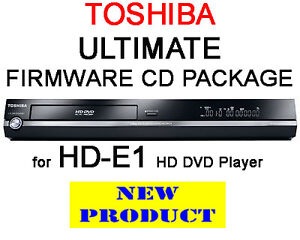 REGION FREE & V4.0 FIRMWARE CD PACK FOR TOSHIBA HD-E1 HD DVD PLAYER