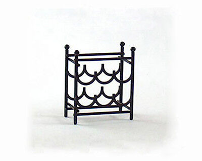 NICE 1:12 Scale Dollhouse Miniature Black Metal Wine Rack NEW #S8504