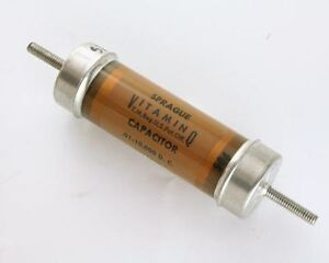 New-Sprague-0-01uF-10-000V-High-Voltage-Oil-Capacitor-VITAMIN-Q-HIGH-QUALITY