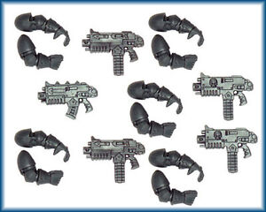Chaos Space Marine Troop Boltguns & Arms x 5 bolt guns