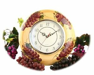 Vineyard Kitchen Grape Wall Clock