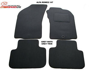 Dark-Grey-Fully-Tailored-Car-Mats-for-a-Alfa-147-2001-to-2009