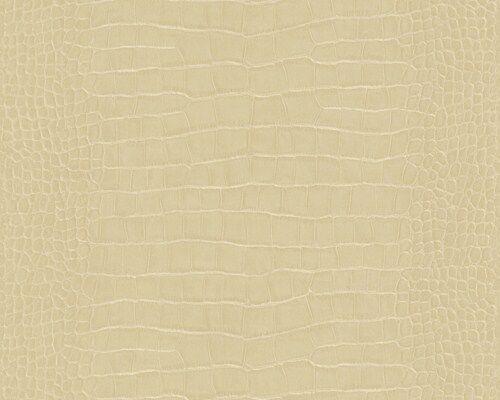 Fleece Wallpaper AS Dekora Natural 6651-19 Crocodile Leather Look beige