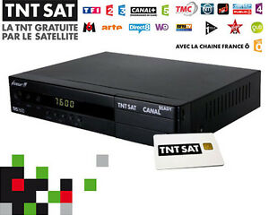 TNT Sat Receiver & Card - French Digital TV - Canal Sat Ready