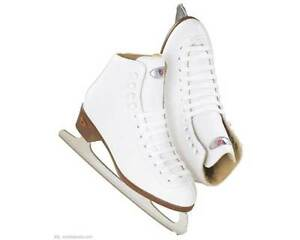 NEW!  Riedell Ice Skates 110 Womens White Figure Skates Ladies size 8
