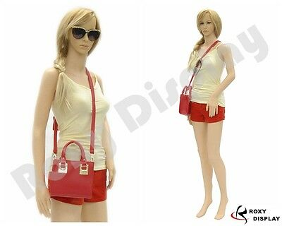 Female Unbreakable Plastic Mannequin Display Dress Form Ps-g3free Wig