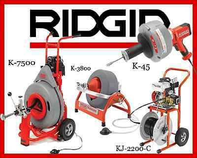 Ridgid K-7500 60052 K-3800 53117 K-45-1 36013 Kj-2200-c Jetter 63882