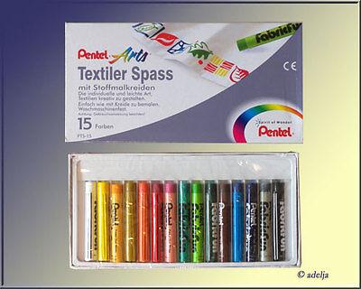 15 Stoff-Malfarben / Stoffmal-Stifte -Textilfarben  NEU