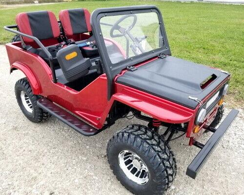 Mini Safari Jeep Mini Gas Golf Cart With 125cc Motor