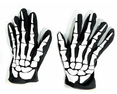 Sensenmann Tod Gerippe Kostüm Party 9164 (Halloween Kostüme Skelett Handschuhe)