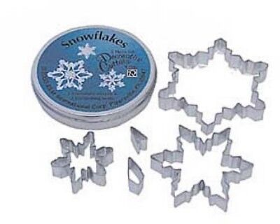 5 Piece Snowflake Cookie Cutter Set NEW - Snowflake Cookie