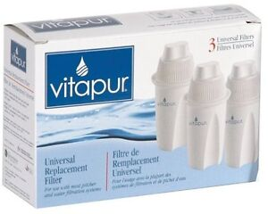 Vitapur UNIVERSAL Replacement Filter 3 Pack - NEW, in sealed box