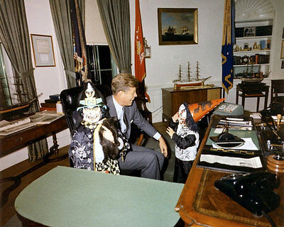John F Kennedy #5 Photo - Halloween 1963 Jr & Caroline