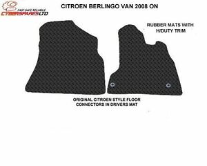 Citroen Berlingo Van 2008 Onwards Fully Tailored Rubber Car Mats