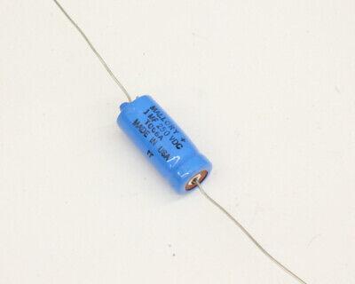 Lot Of Ten Tc56a Mallory Capacitor 1uf 250v Aluminum Electrolytic Axial