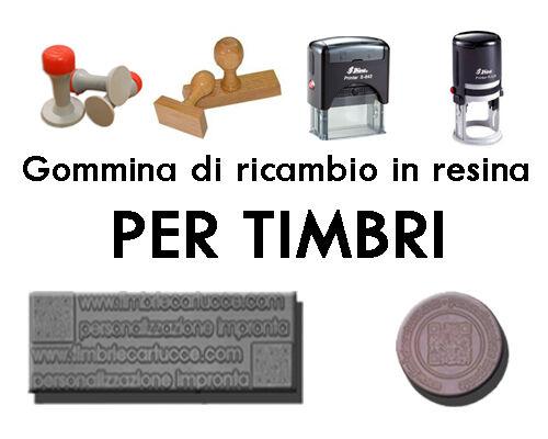 GOMMINA DI RICAMBIO TIMBRI MANUALI ED AUTOINCHIOSTRANTI (IMPRONTA, GOMMA TIMBRO)