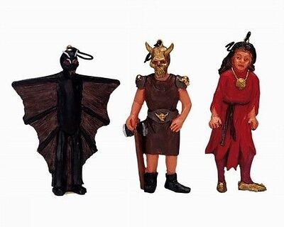 Lemax Spooky Town Halloween Tree Decorations Bat Viking Sorceress 32760 NIB