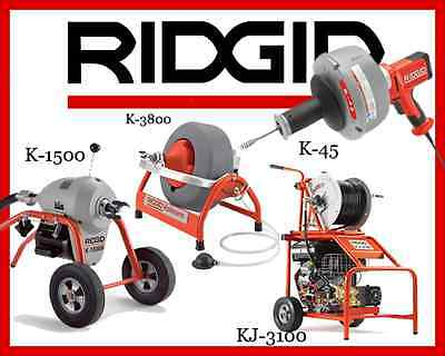 Ridgid K-1500 23707 K-3800 53117 K-45-1 36013 Kj-3100 Jetter 37413
